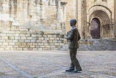 曼纽尔GarcÃa Matos雕象,普拉森西亚,西班牙 免版税库存照片