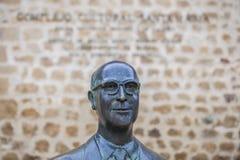 曼纽尔GarcÃa Matos雕象,普拉森西亚,西班牙 库存照片