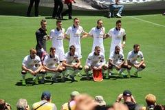 曼联对 国际冠军杯的巴塞罗那 免版税图库摄影