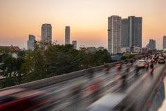 曼谷业务量 免版税图库摄影