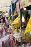 曼谷中国镇街道食物素食主义者节日 图库摄影