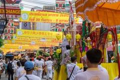 曼谷中国镇街道食物素食主义者节日 库存照片