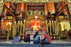 曼谷佛教中国道士寺庙 免版税库存图片