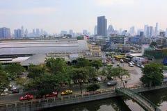 曼谷全景,泰国 图库摄影