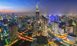 曼谷全景 免版税库存图片