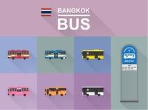 曼谷公共汽车 图库摄影