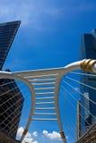 曼谷公共skywalk 免版税库存照片