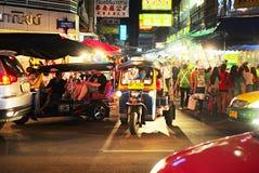 曼谷唐人街交通,泰国 免版税图库摄影