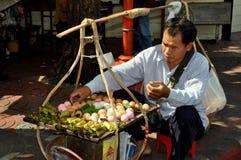 曼谷唐人街蛋卖主泰国 免版税图库摄影
