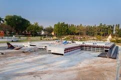 曼谷国际机场在微型泰国公园 库存图片