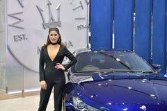 曼谷国际泰国汽车展示会的201 Maserati吉卜力 免版税库存照片