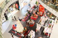 曼谷圣诞节的商城 免版税库存图片