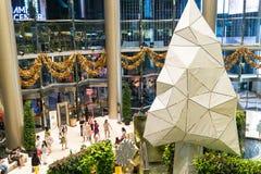 曼谷圣诞节的商城 库存照片