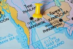 曼谷地图 免版税图库摄影
