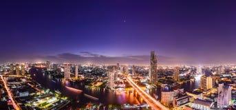 曼谷地平线都市风景在泰国 库存图片