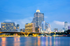 曼谷地平线 库存照片