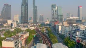 曼谷基础设施鸟瞰图  股票视频