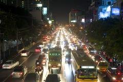 曼谷堵塞业务量 免版税库存图片