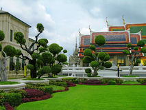 曼谷复杂全部宫殿泰国 免版税库存照片