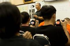 曼谷多科技Colleage人民的曼谷泰国在教室学习摄影在车间天 库存照片