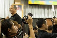 曼谷多科技Colleage人民的曼谷泰国在教室学习摄影在车间天 库存图片