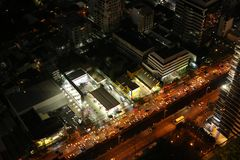 曼谷夜地平线 图库摄影