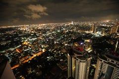 曼谷夜地平线 免版税库存图片