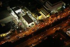 曼谷夜地平线 免版税图库摄影