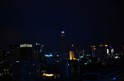 曼谷夜视图 免版税库存图片