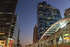 曼谷夜路 库存照片