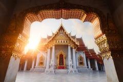 曼谷大理石寺庙泰国 免版税图库摄影