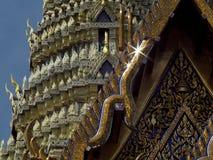 曼谷寺庙屋顶 免版税库存图片