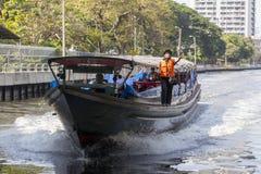 曼谷小船服务 免版税图库摄影