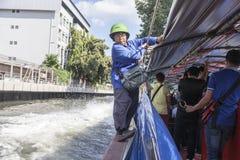 曼谷小船服务 图库摄影