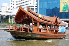 曼谷小船chao praya河泰国 库存照片