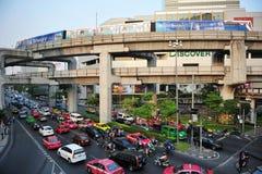 曼谷市中心看法  免版税库存照片
