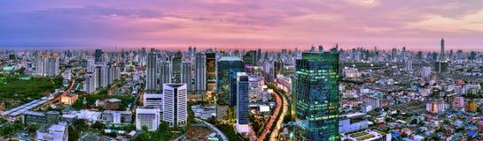 曼谷市全景视图 库存图片
