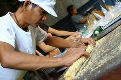 曼谷市场晚上saket寺庙泰国wat 免版税图库摄影