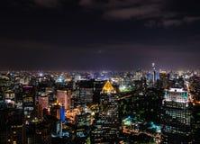 曼谷市夜  库存图片