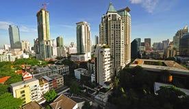 曼谷市泰国视图 库存图片
