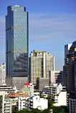 曼谷市泰国视图 免版税库存照片