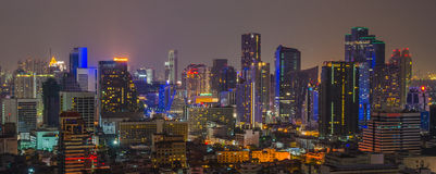 曼谷市视图 图库摄影