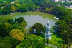 曼谷市视图 免版税库存照片