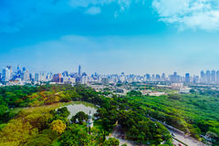 曼谷市视图 免版税图库摄影