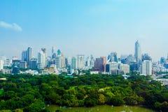 曼谷市视图 免版税库存图片
