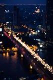 曼谷市鸟瞰图 免版税图库摄影