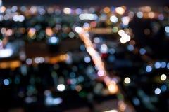 曼谷市鸟瞰图 图库摄影