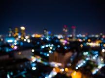曼谷市鸟瞰图 免版税库存图片