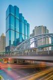 曼谷市-商业区 库存照片