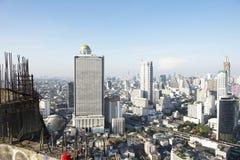 曼谷市4月5日:2015年4月5日的顶视图城市在曼谷 图库摄影